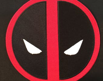Embroidered Deadpool Patch  - Multiple Sizes