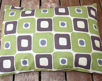 Pet Bed Cover Duvet, Modern Square & Green Twill, Canine Cloud Dog Bed Cover 24 x 18, Pet Furniture, Gift