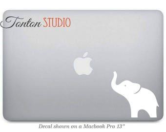 White Elephant Macbook Decal Sticker - Laptop Notebook Macbook Air Pro - Removable Vinyl Sticker -Macbook 11 12 13 15 17 - G001W