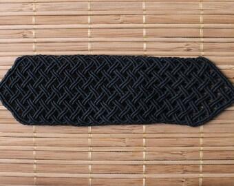 Black macrame cuff