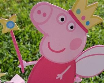 Peppa pig centerpiece, peppa pig party, peppa pig centerpiece, peppa pig George