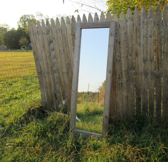 Reclaimed Wood Floor Mirror Rustic Full Length Mirrors