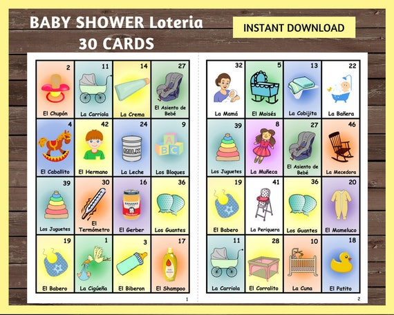 Baby Loteria Card Related Keywords Suggestions Baby Loteria Card