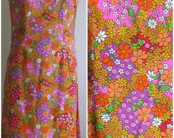 1960s Maxi Dress-Flower Power