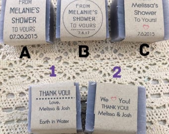 100 Wedding Soap Favors, Wedding Favors, Baby shower favors, soap favors
