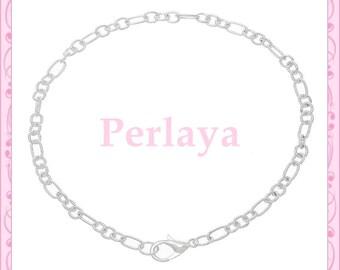 12 REF913 silver metal chain bracelets