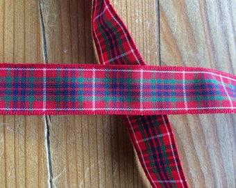 Tartan Ribbon. Fraser / Frazer tartan. 16mm width available. Price per metre