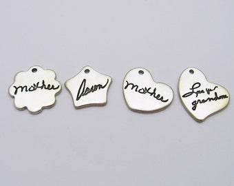 Handwriting Charm, Personalized Charm, Small Silver Charm, Sterling Silver Charm, Silver Handwriting Charm, Charm Bracelet