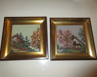 NEEDLEPOINT WALL HANGINGS