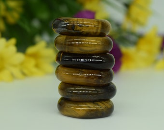 Tiger Eye Palm Crystal 1 pc-  Reiki Crystal Therapy, Crystal Grid, Protection, Wicca, Pagan, Healing