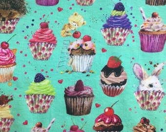 Cupcakes CL fabric knit 1/2 yard