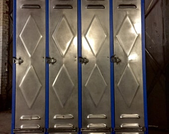 French Vintage industrial Lockers, upcycled to create great storage solutions 4 any commercial or residential space with or without inners