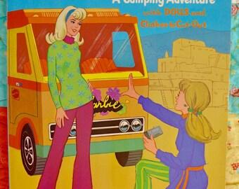 Barbie & PJ Camping Adventure Coloring Book Circa 1973 Mint Un-circulated Copy