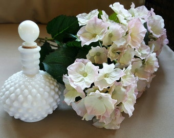 Just Reduced~Vintage Milk Glass Hobnail Perfume Decanter