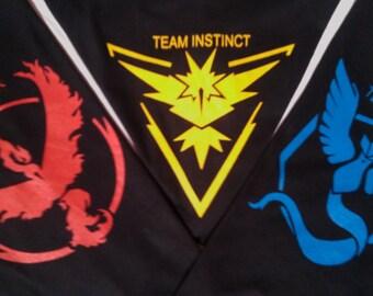 Pokemon Go Team, Valor Team, Mystic Team, Team Instinct, Team Pokeball, nerd, Black Tee shirt, Pokemon T-shirt