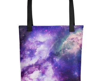Galaxy All Over Print Tote Bag - Space Bag - Universe Tote