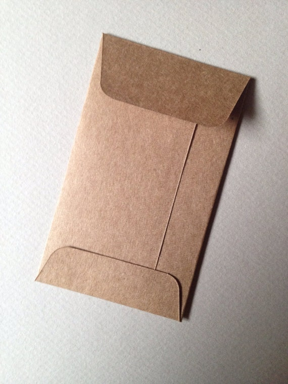 100 kraft mini envelopes recycled size 2 18 x 3 12 coin 100 kraft mini envelopes recycled size 2 18 x 3 12 coin envelopes business card envelopes heavyweight brown kraft from paperetteshoppe on etsy reheart Image collections
