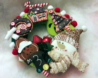 "Christmas Wreath using ""Hansel and Gretel""."