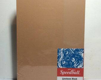 "Speedball Linoleum BLOCK for Block Printing 3 x 4"""
