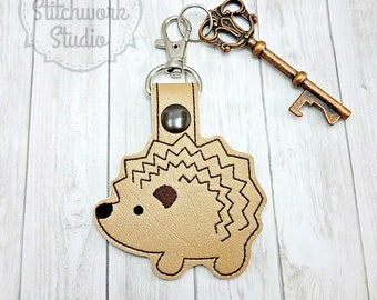 Hedgehog Keychain - Key Fob - Woodland Animal