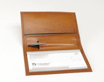 Leather Checkbook Cover