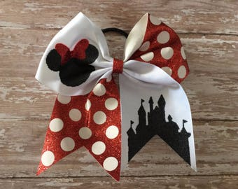 HUGE DEAL - Flawed Disney Cheer Bows, Minnie Mouse - Perfect for Large groups