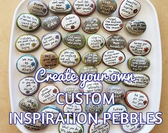Wedding favors, Message stones, Affirmation rocks, Inspirational Stones, Affirmation Stones, painted rocks, painted pebbles, personal gift