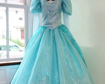 Aqua Sea Princess Land Dress - Custom Made Ladies Sizes - Cosplay Costume, Princess Party, Children's Entertainment, Made to Fit Costume
