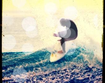 Surfer Wall Art Decor, Retro Surfing Photography, Retro Beach Wall Art,Large Surfing Wall Art, Boys Room, Malibu Beach Art,  Gift Idea Men
