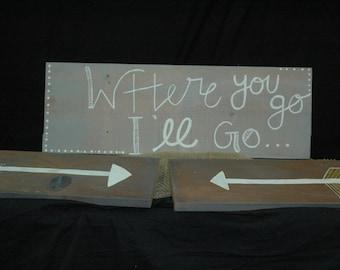 Wood Wall Sign Set