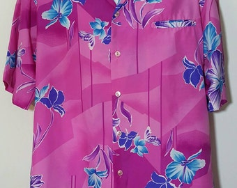 Vintage Hilo Hatties Hawaiian Islands Aloha Shirt Size XL EUC