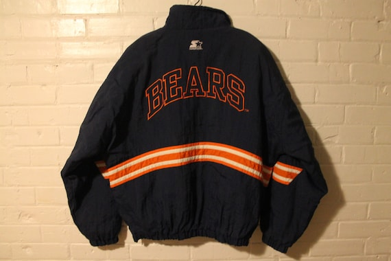 Detroit Tigers starter jacket vtg MLB Baseball vintage full button winter coat Large