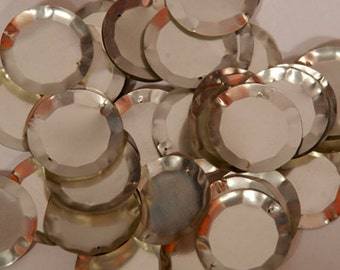 25 pcs  sequins.......silver circle/KBRS086