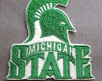 Michigan State Iron on No Sew Embroidered Patch Applique