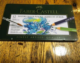 Faber Castell Watercolor Pencils, Brand New unopened Box of 12, or Polychromos set of 12.