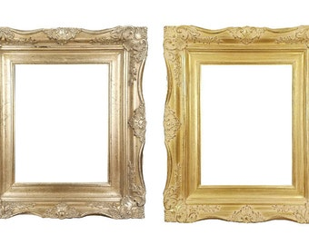 """4"""" Ornate Baroque French Gold or Silver Picture Frame Sizes: 5x7 8x10 11x14 16x20 20x24 24x36"""