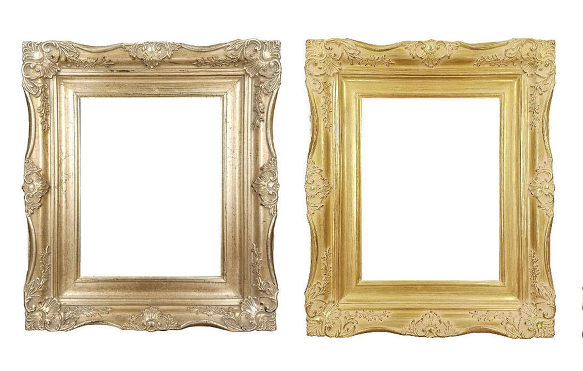 4 Ornate Baroque French Gold Or Silver Picture Frame