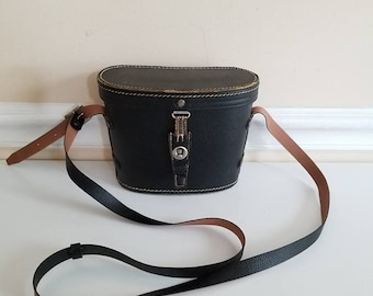Vintage Binocular Case, Binocular Bag, Leather binocular case, Field Case, Travel Binocular Bag, Movie Prop, Set Prop, 1970s