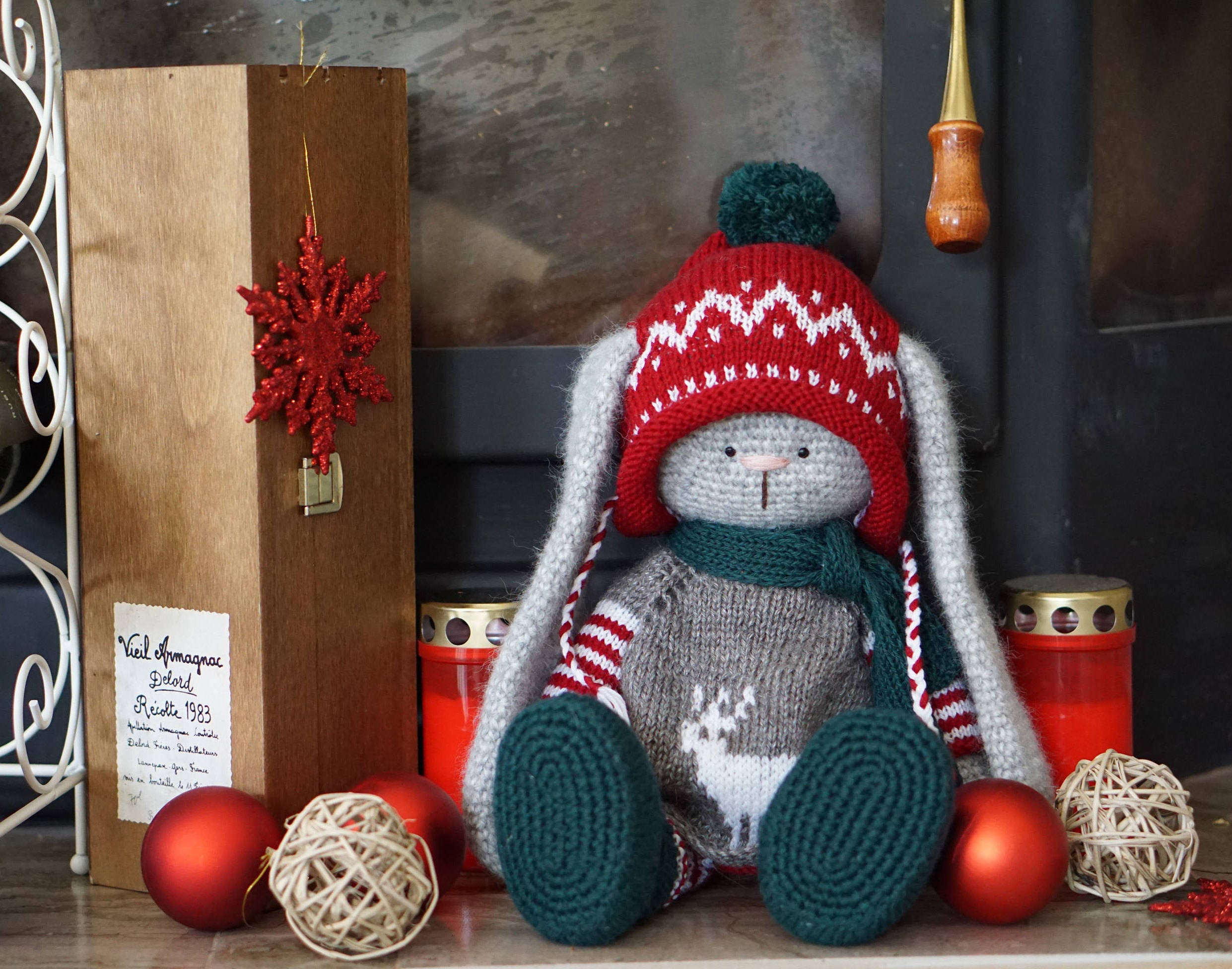 Easy Christmas Amigurumi : Crochet pattern toy knitting pattern set of clothes easy and