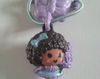 Hyacinth, Hyacinthia, with clip Charmkins, hasbro, vintage toy, excellent condition,  used, lilac, purple, 1983, 80s, by NewellsJewels