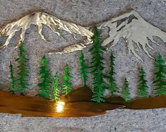 Mountain Scene Art Large