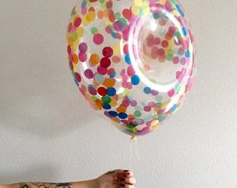 Donut Confetti Balloon / 16 inch pre filled confetti party balloon / donut theme party / multi colored confetti / shopkins birthday balloon
