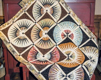 Clockworx Quilt Pattern - Cut Loose Press CLPQLT015 - Foundation Pieced Quilt Pattern - Charm Elements 20 - New York Beauty Quilt
