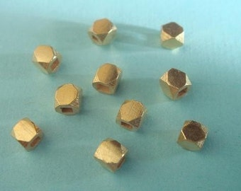 Vermeil Faceted Beads 3mm Bali 24k Vermeil Bead 10 pcs