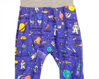 Blue Space Astronaut Print Baby Harem Pants/Leggings ALL SIZES