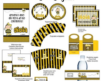 bumble bee  Party Printable