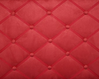 Deep Red Ultra Suede French Memo Ribbon Board