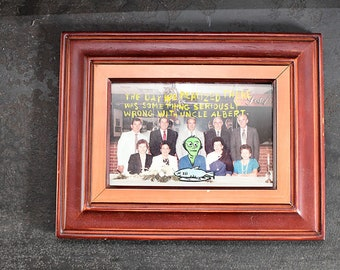 The Day We Realized Something Was Seriously Wrong With Uncle Albert - Original Altered Photograph by Fitz - Framed