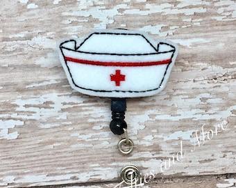 Nurse Hat Badge Reel, Badge Reel, Nurse Badge Reel, RN Badge Reel, ID Badge, Nurse Cap Badge Reel, Retractable Badge Reel, Hat Badge Reel