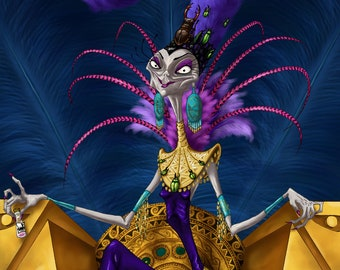 Portraits of Evil: Advisor | Yzma Print